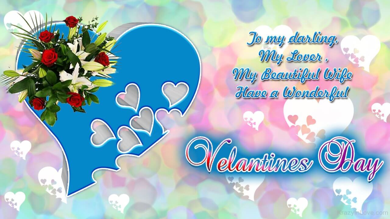 Happy Valentines Day Heart Greeting Card HD Wallpaper Image