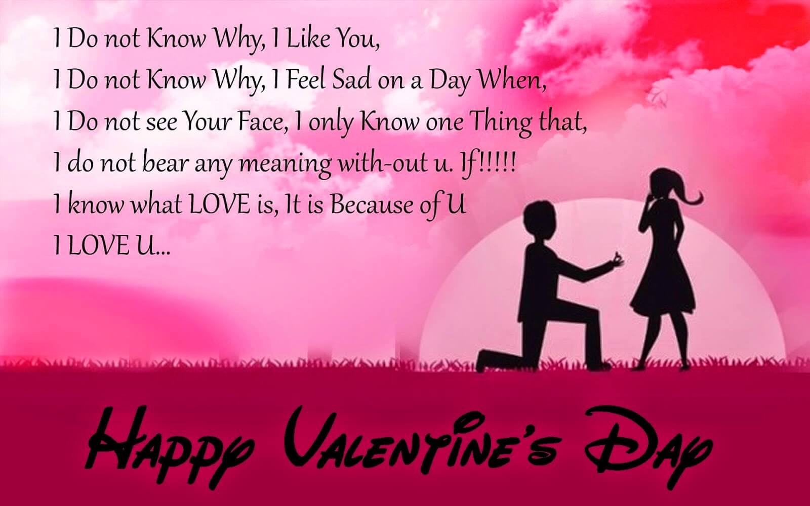 Happy Valentines day Love Poem Image Wallpaper Wishes For GF, BF