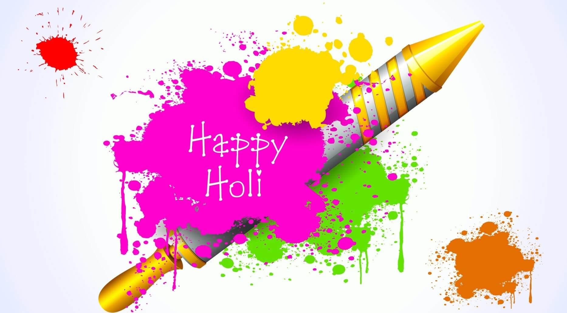 happy holi 2019 colors and pichkari photo image