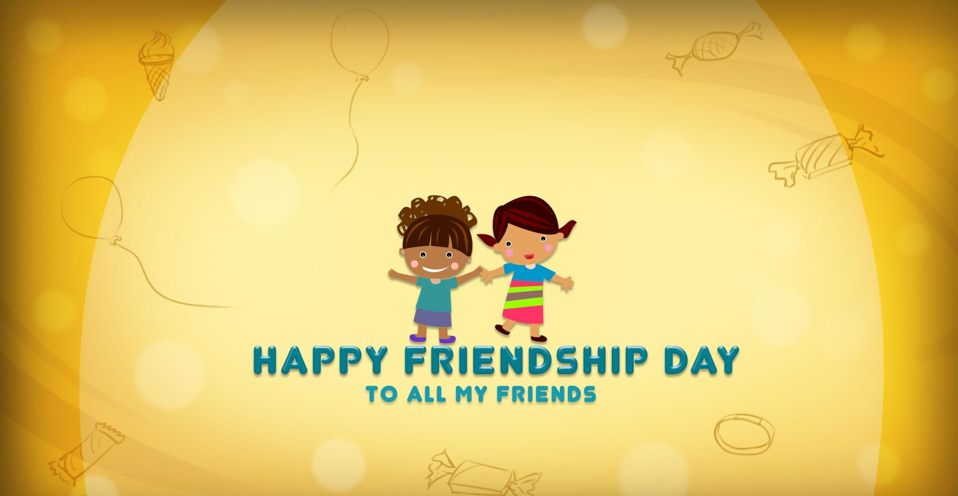 happy friendship day HD wallpaper for friends