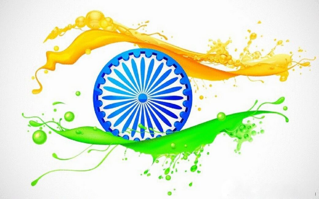 happy independence day india flag wallpaper image