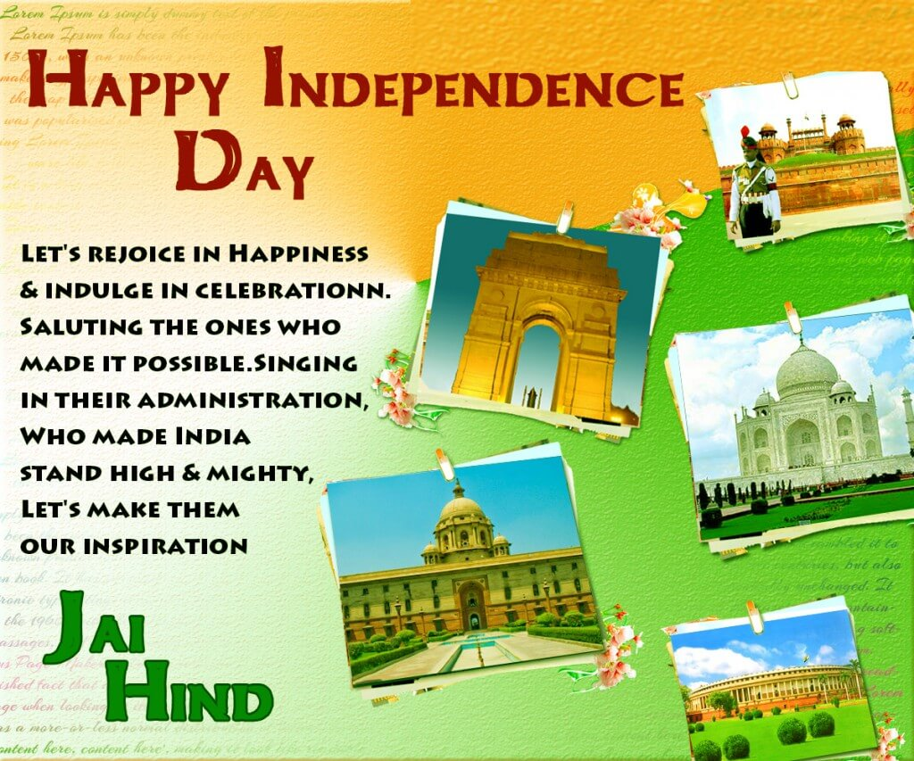 happy independence day images HD greeting card
