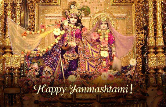 happy janmashtami beautiful image wallpaper photo of radha krishna