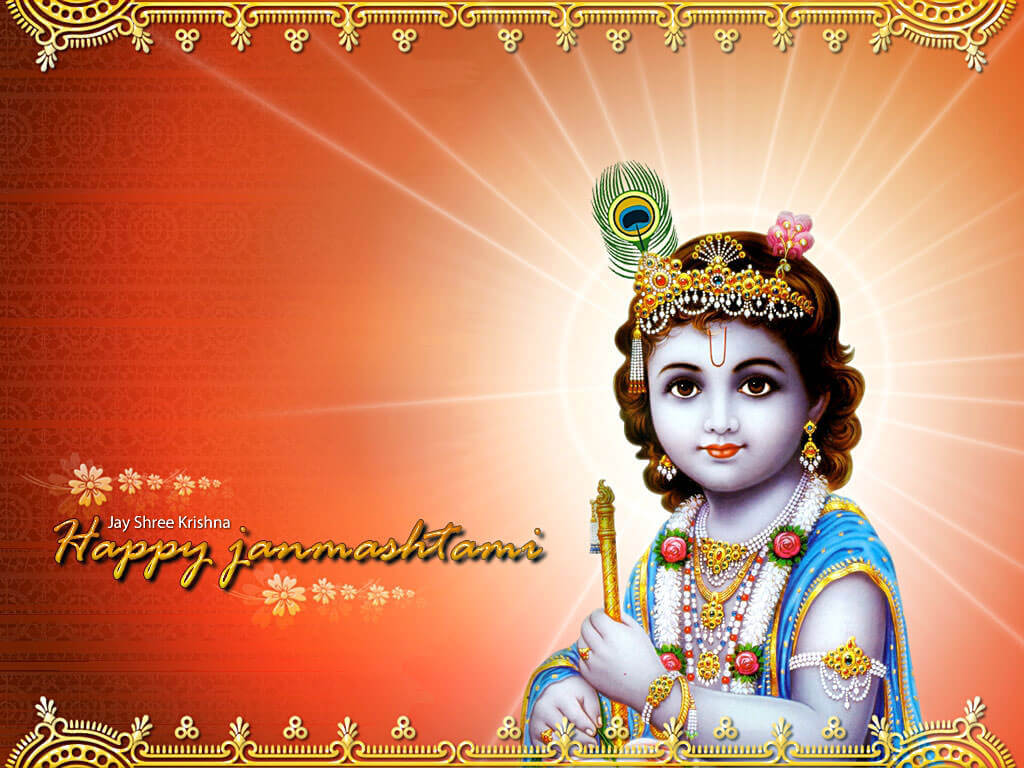 happy janmashtami wallpaper image photo bal krishna