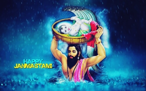 happy krishna janmashtami child photo image wallpaper