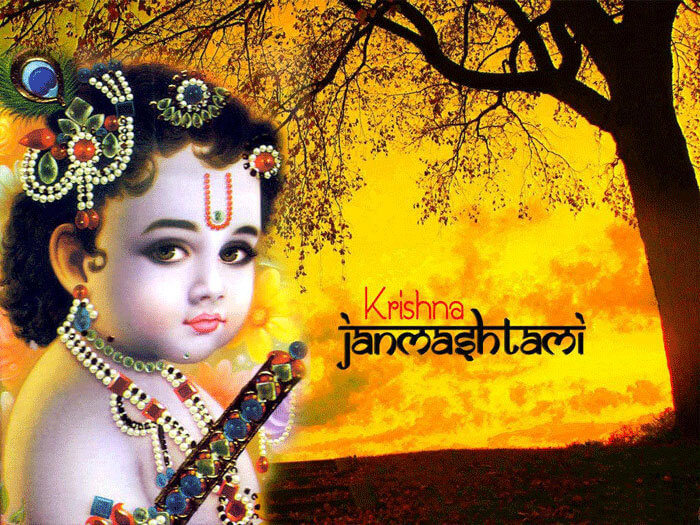 happy janmashtami sms in english