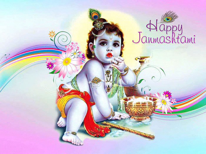 happy janmashtami wishes sms quotes wallpaper image