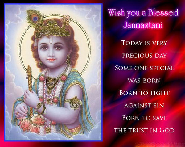 happy janmashtami status message for whatsapp, facebook