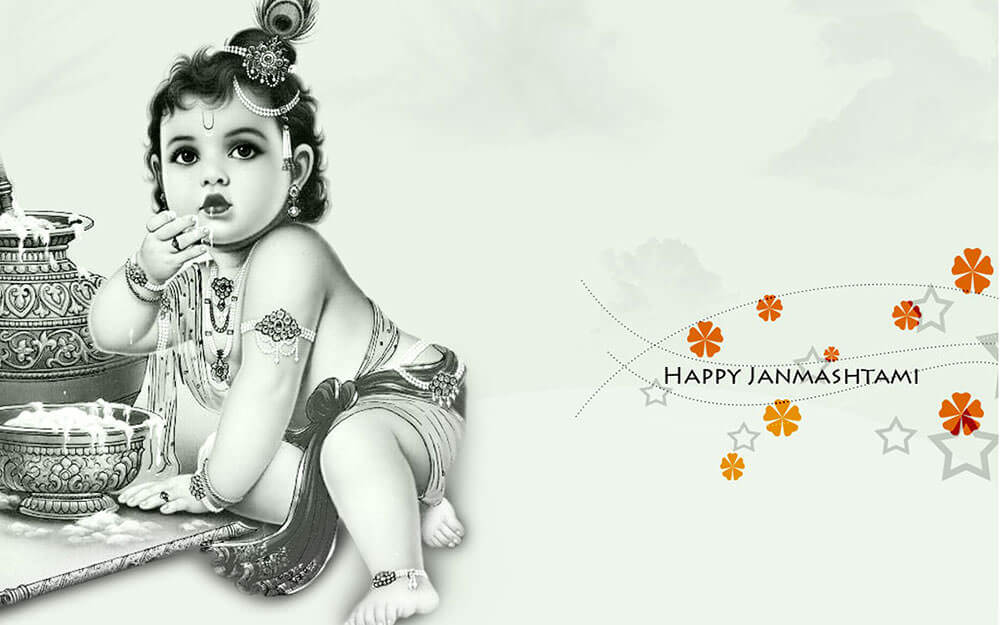 happy janmashtami greeting card HD wallpaper images