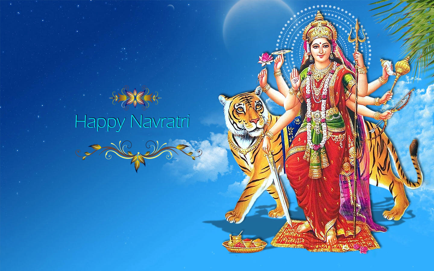 happy navratri 2017 HD wallpaper durga mata image