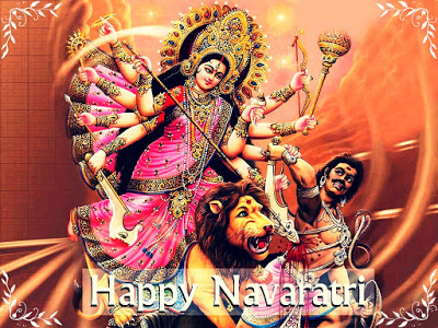 happy navratri wallpaper durga mata
