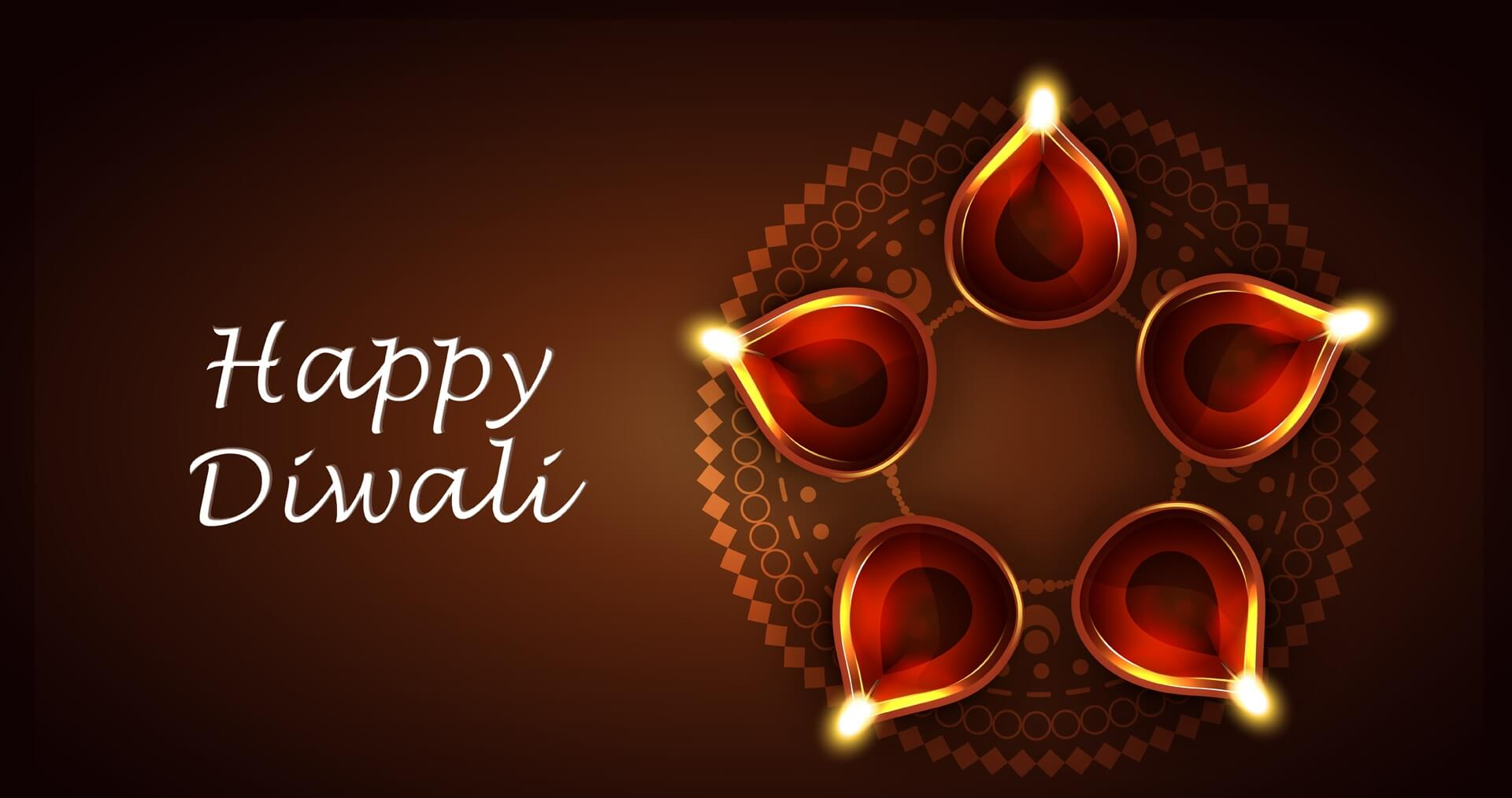 Happy diwali greeting card HD