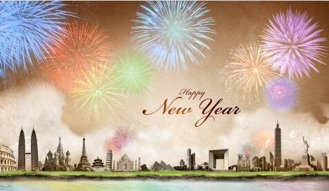 Happy New Year 2018 fireworks wallpapers images hd