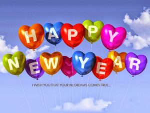 Happy New Year Balloons wallpaper images greeting cards hd