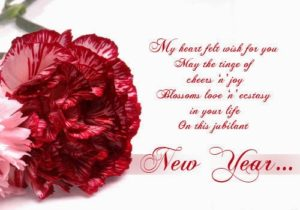 Happy New Year flower images greeting cards hd