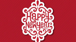 Happy New Year greeting cards poster