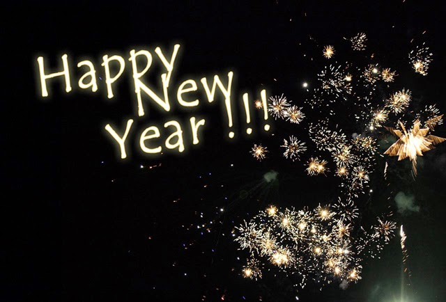 Happy New Year image wallpaper hd resolution with crackers