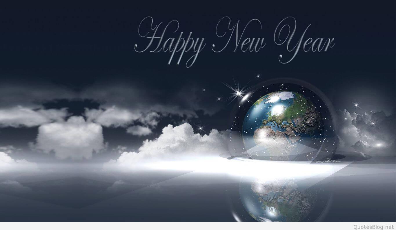 Happy New Year sky wallpaper wish hd