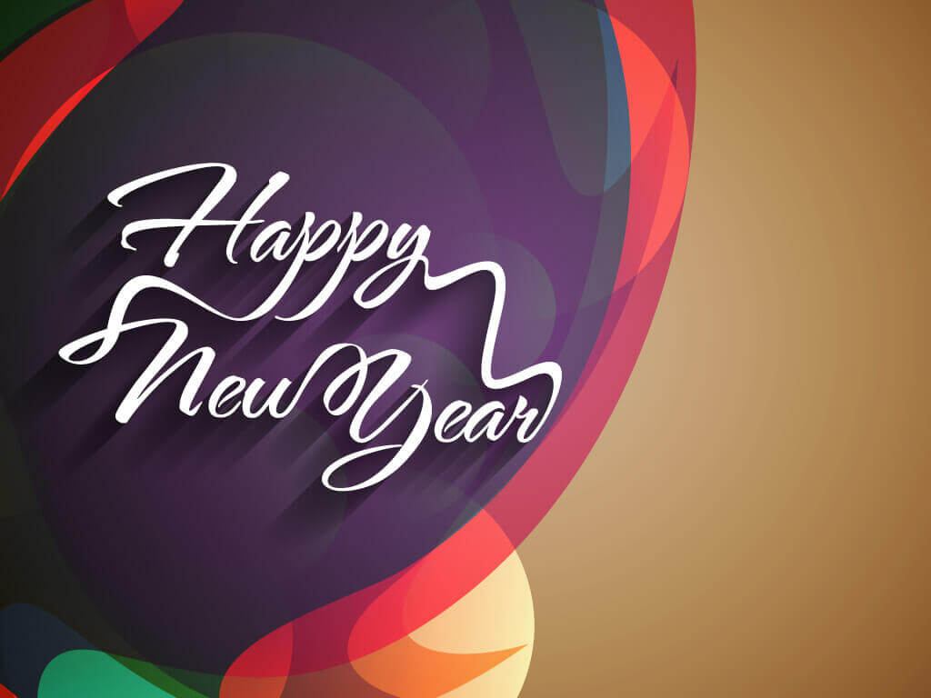 Happy New Year greeting card, images, wallpaper
