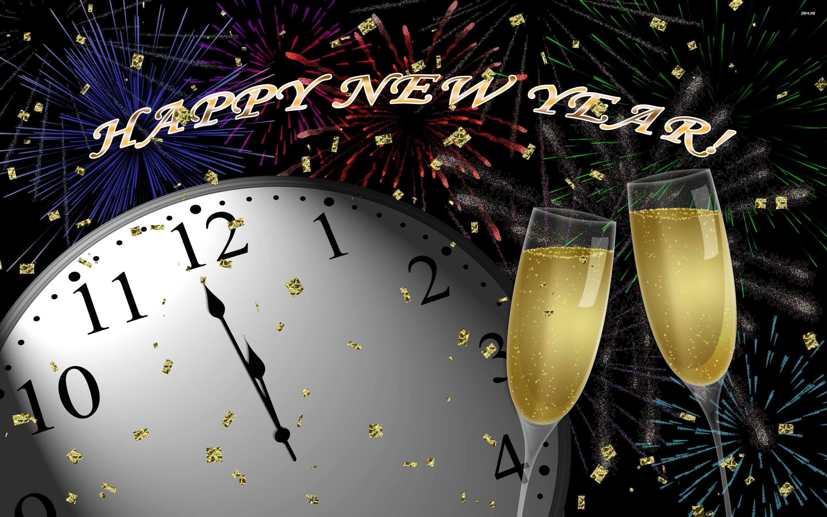 happy new year countdown image midnight champagne fireworks