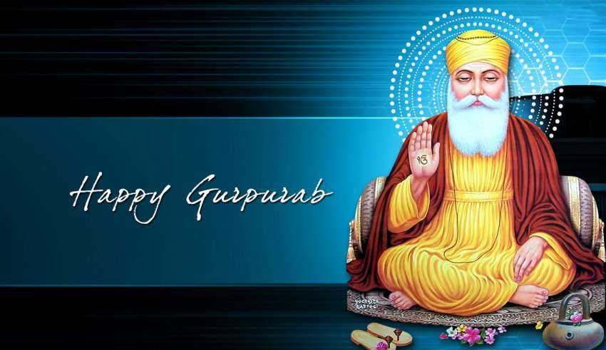 Happy Gurpurab Guru Nanak Greeting card