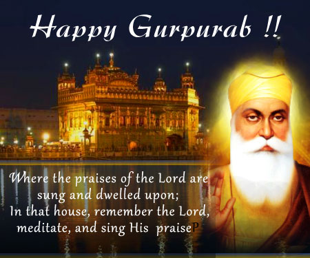 Happy Guru Nanak Dev Ji Gurpurab Greetings Picture