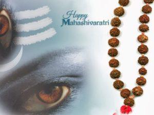 Happy Shivaratri greeting card