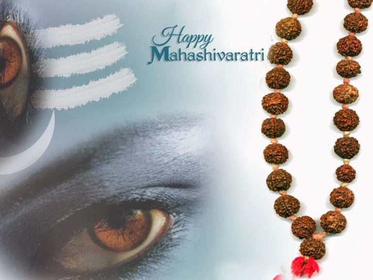 Happy Shivaratri greeting card