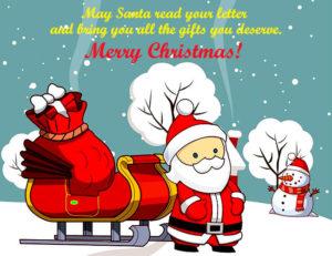 Merry Christmas Santa Claus Cartoon