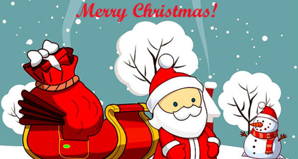 Merry Christmas Santa Claus Cartoon