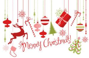Merry Christmas toys banner