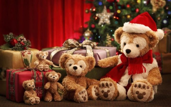 Merry christmas gifts teddy bears