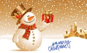 merry christmas snowman gifts