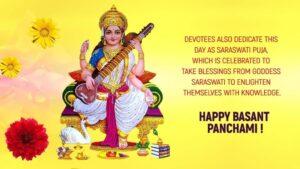 Happy Basant Panchami Wishes Whatsapp Wallpaper