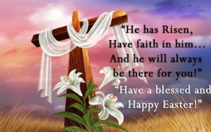 Happy Easter Sunday Wishes Cross