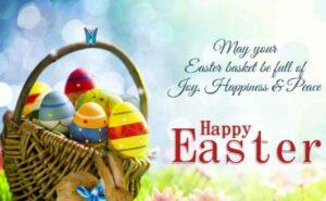 Happy Easter Sunday Wishes Egg Baskter