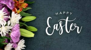 Happy Easter Sunday Wishes Flowers