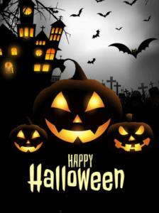 Happy Halloween Wishes Bats