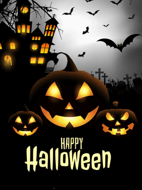 Happy Halloween Wishes Bats