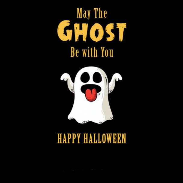 Happy Halloween Wishes Ghost