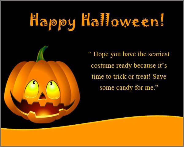 Happy Halloween Wishes Greeting Card
