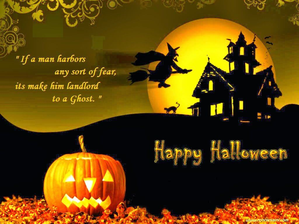 Happy Halloween Wishes Haunted House