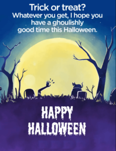 Happy Halloween Wishes Haunted Place
