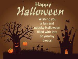 Happy Halloween Wishes Tree