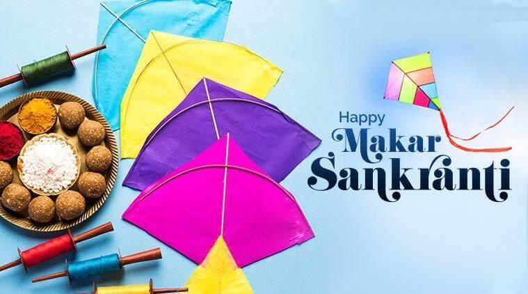 Happy Makar Sankranti Wishes Kites