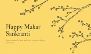 Happy Makar Sankranti Wishes Yellow