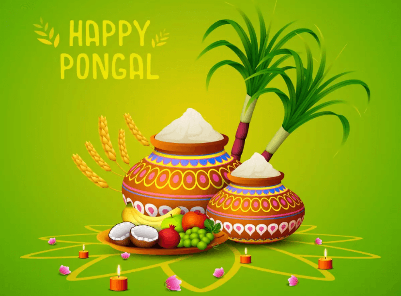 Happy Pongal Wishes Candles