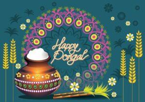 Happy Pongal Wishes Dish