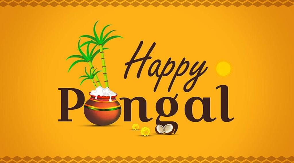 Happy Pongal Wishes Yellow