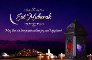 Eid Mubarak Wishes Candle